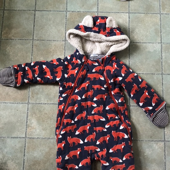 659177fca Mini Boden Jackets & Coats | Baby Boden Bunting Snowsuit Foxes 1824 ...